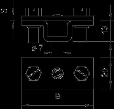 Схема Держатель для плоских проводников, с крепежным отверстием Ø 7 мм — арт.: 5032539