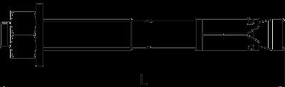 Схема Анкерный болт BZ — арт.: 3498342