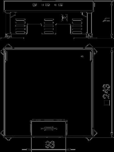 Схема Регулируемая кассетная рамка RKSN с кабельным выводом, из латуни — арт.: 7409212