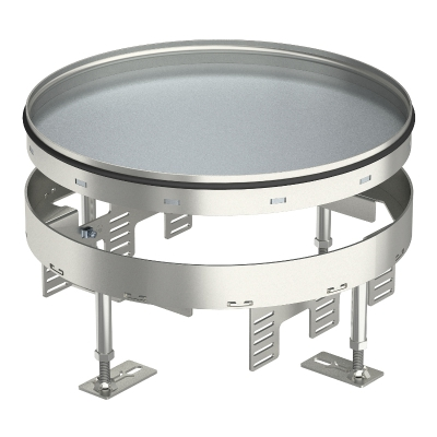 Регулируемая усиленная кассетная рамка RKFRSL для тубуса, номинального размера R9, из нержавеющей стали — арт.: 7409112