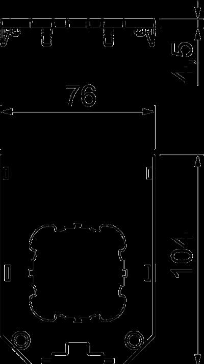 Схема Накладка для универсальной монтажной коробк UT4, с круглым отверстием для электроустановочного изделия — арт.: 7408783