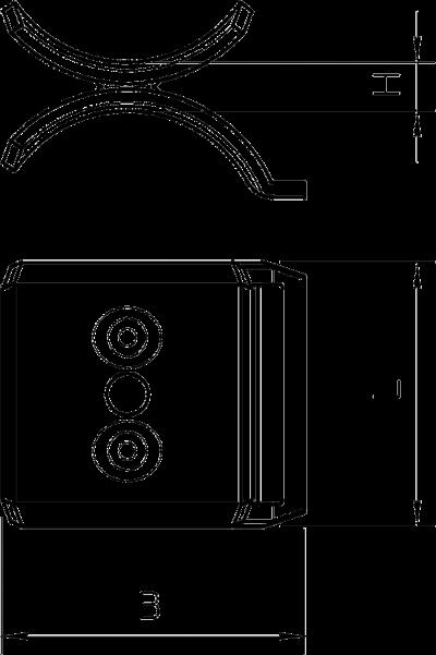 Схема Металлическая прижимная пластина, двойная — арт.: 1199706