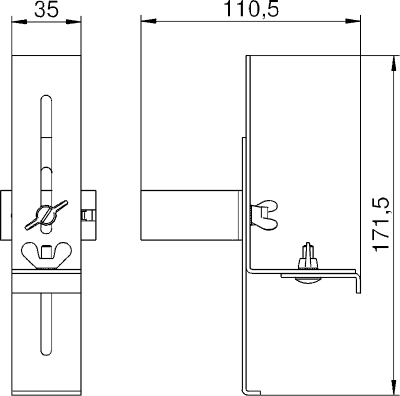 Схема Крепежный зажим — арт.: 6286802
