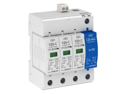 Разрядник для защиты от перенапряжений 3-полюсный + NPE, с дистанционной сигнализацией — арт.: 5094764