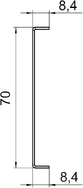 Схема Разделительная перегородка для кабельного короба высотой 90 мм — арт.: 6279714