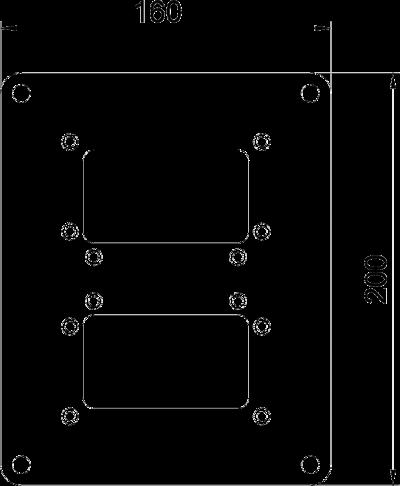 Схема Напольная пластина для электромонтажной колонны ISS140100R — арт.: 6290336