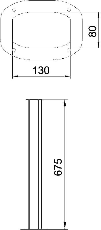 Схема Алюминиевая электромонтажная колонна ISSDHSM45 — арт.: 6289980