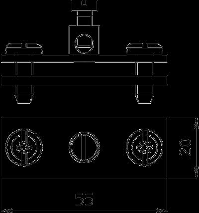 Схема Заземляющая клемма для круглых и плоских проводников — арт.: 5043107
