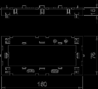 Схема Монтажная рамка тройная Modul 45® — арт.: 6288574