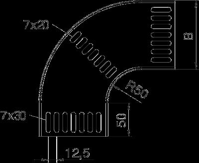 Схема Угловая секция 90° — арт.: 7061146