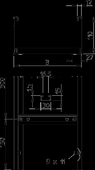 Схема Кабельный лоток LGN 110 лестничного типа — арт.: 6209520