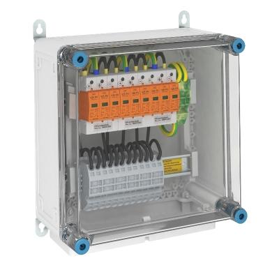 Системное решение для защиты преобразователей фотогальванических установок, в корпусе, с разрядниками типа 1+2, с 3 треккерами MPP, 900 В постоянного — арт.: 5088579