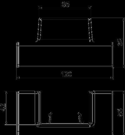 Схема Адаптер для Т-образной секции под кабельный короб WDK 40060 — арт.: 6113314