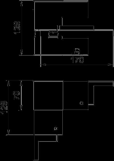 Схема Внутренний угол, для кабельного короба высотой 70 мм — арт.: 6277240