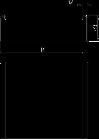 Схема Листовой кабельный лоток MKSU неперфорированный — арт.: 6063160