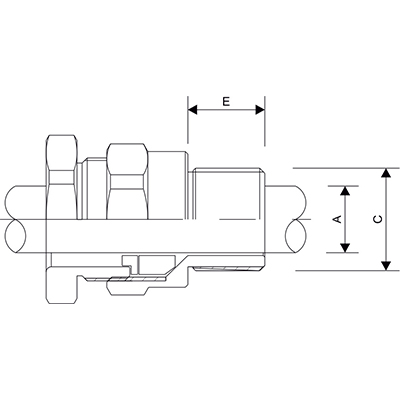 Схема A2F Взрывозащищенный кабельный ввод для неармированного кабеля.