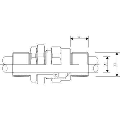 Схема A2FPM Взрывозащищенный кабельный ввод для неармированного кабеля проложенного в трубе, внешняя резьба