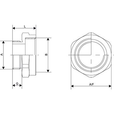 Схема Адаптер с метрической резьбой