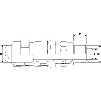 Схема E1FUNV Взрывозащищенный универсальный кабельный ввод с двойным уплотнением для любого типа бронированных кабелей