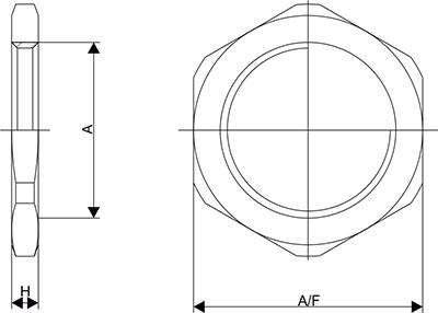 Схема Контргайка для кабельных вводов
