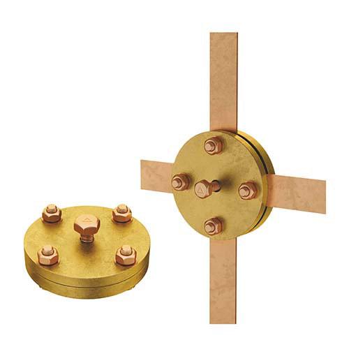 Зажим крестообразный для плоских проводников (круглый)