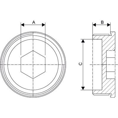 Схема Заглушка с внутренним шестигранником