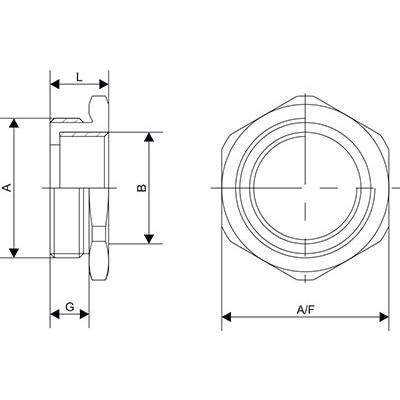 Схема Переходник с метрической резьбой