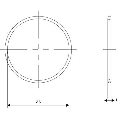 Схема Уплотнительное кольцо для кабельного ввода