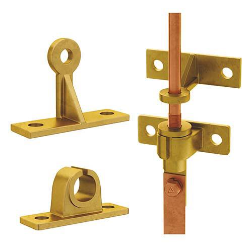 Комплект кронштейнов для крепления молниеприемной системы (вертикальная установка)