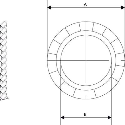 Схема Зубчатая шайба внешняя для кабельного ввода