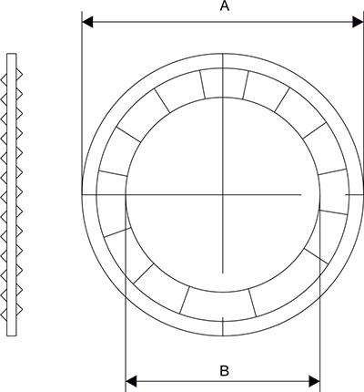Схема Зубчатая шайба внутренняя для кабельного ввода